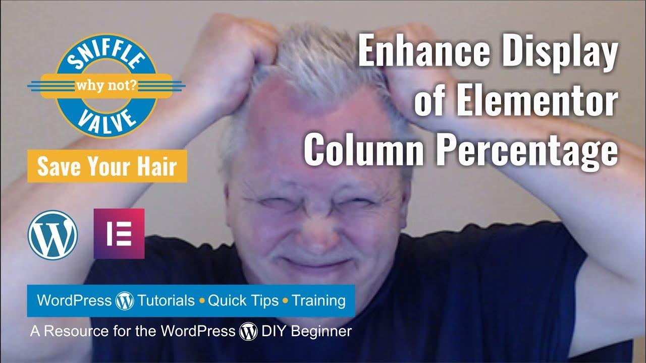 Elementor - Enhance column width percentage display