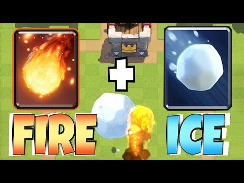"""WHICH IS BETER!?!? """"Clash Royale"""" NEW CARD GIANT SNOWBALL"""