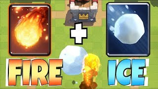 "WHICH IS BETER!?!? ""Clash Royale"" NEW CARD GIANT SNOWBALL"