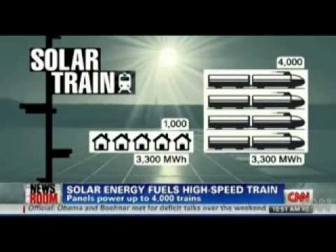 Solar Panels in Belgium Power 4,000 Trains