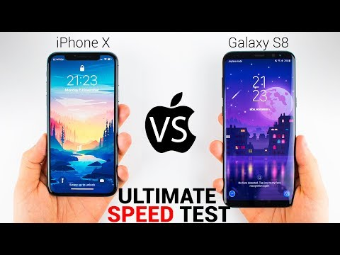 Thumbnail: iPhone X vs Samsung Galaxy S8 - The ULTIMATE SPEED TEST!