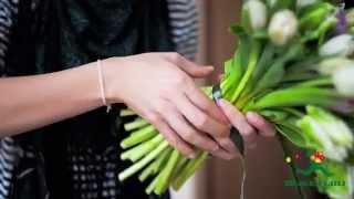 Букет из тюльпанов нежных оттенков
