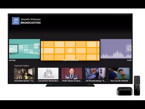 How to use the JW Broadcasting app for Apple TV 4
