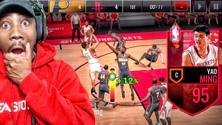 95 YAO MING BREAKING ANKLES & POSTERIZING! NBA Live Mobile 16 Gameplay Ep. 73
