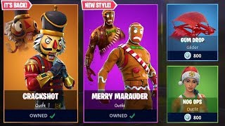 CHRISTMAS SKINS V2 FORTNITE!