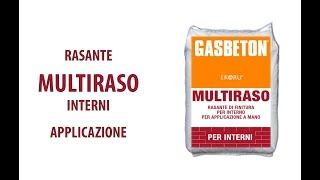Posa GASBETON - Rasatura interna con MULTIRASO INTERNI