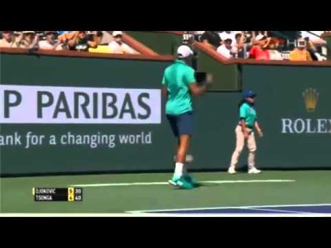 Jo Wilfred Tsonga vs Novak Djokovic highlights Indian Wells 2016 QF