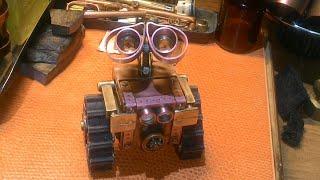 Steampunk Mini робот WALL'e (часть 4)  своими руками.