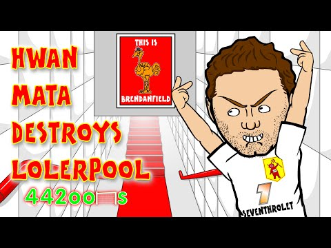 Steven Gerrard Red Card/Stamp BY JUAN MATA🐓Liverpool vs Man Utd👹 1-2 22.3.15 Mata Song Cartoon