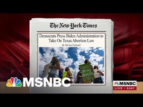 Democrats Press Biden WH To Take On Texas Abortion Law