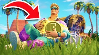 COLLECTING NEW LEGENDARY COINS! *MY LUCKIEST GAME EVER!* | Fortnite Battle Royale