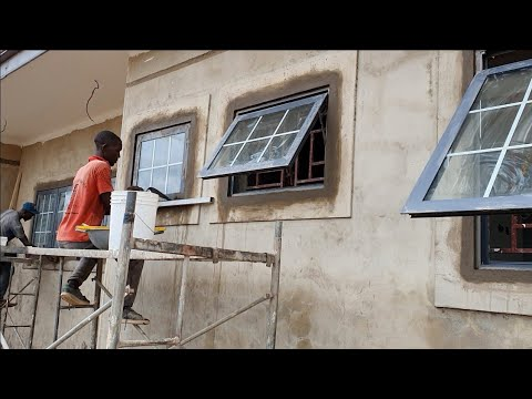 BUILDING IN GHANA || WINDOWS DRESSING || ELECTRICAL EXTENSION || LAND FILLING.....