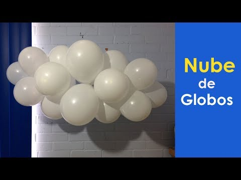 Decoracion De Nubes Para Baby Shower.Como Hacer Una Nube Con Globos Para Baby Shower Youtube