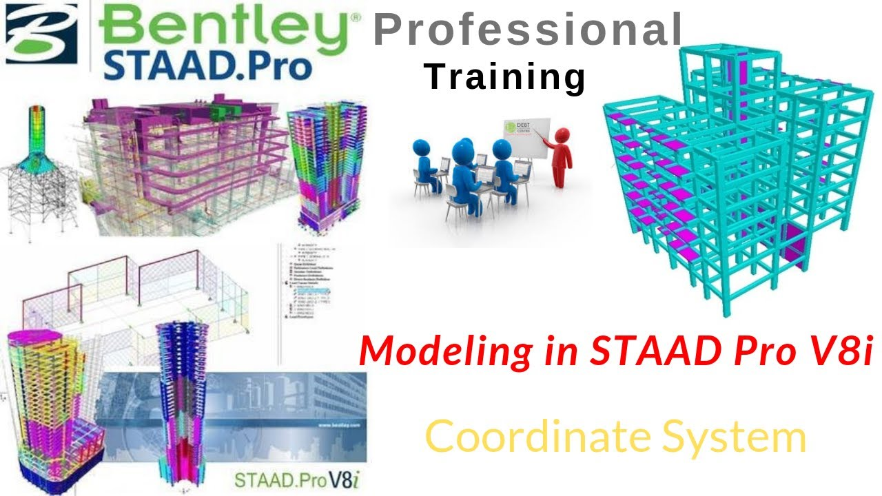 Modeling in STAAD Pro V8i (In Hindi)   Coordinate System   Model Generation