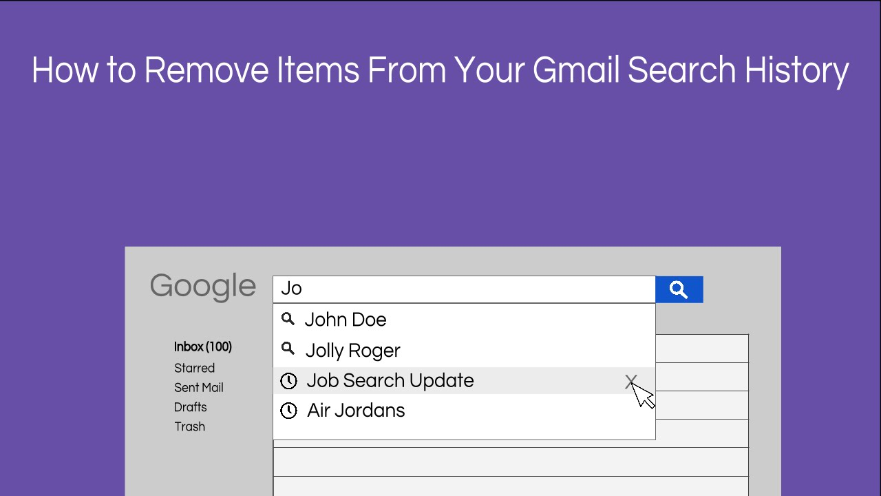 How To Remove Items From Your Gmail Search History