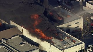 Crews battle large building fire in Glassell Park | ABC7
