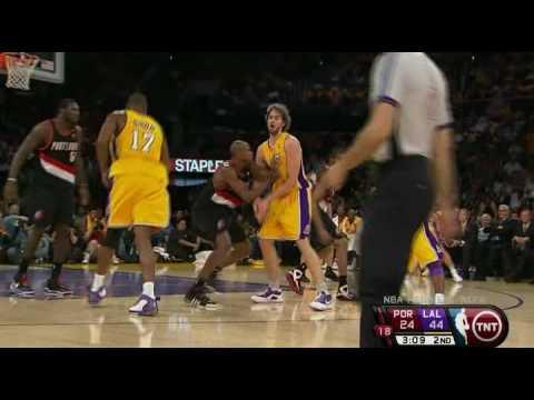 LA Lakers 96 - 76 Portland T-Blazers Kobe Bryant 23 pts