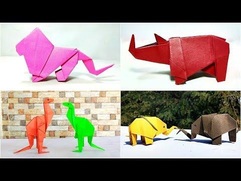 4 Easy Paper Wild Animals || Origami Wild Animals || DIY
