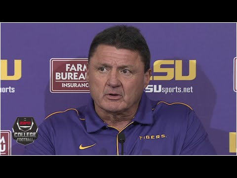 Ed Orgeron: There Will Be No Reason To Celebrate LSU Beating Arkansas | College Football On ESPN