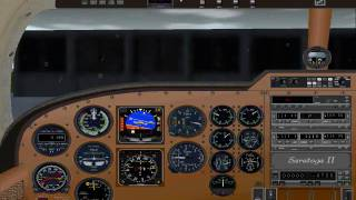 Flight Simulator 2000: Aproach and landing at Albany Intl
