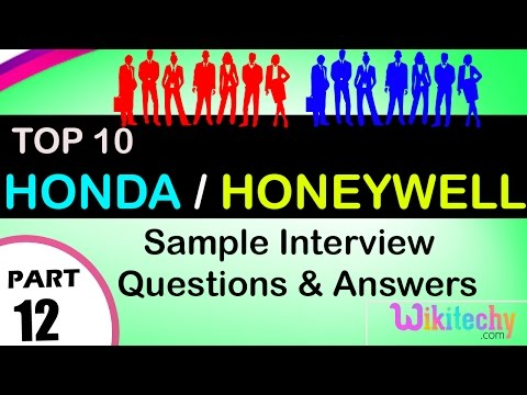 Honda | Honeywell  Top Most Interview Questions And Answers For Freshers / Experienced
