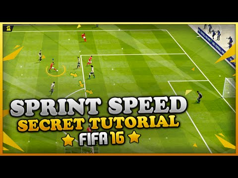 FIFA 16 SECRET SPRINT SPEED TUTORIAL - HOW TO SPRINT FASTER WHILE RUNNING - SPEED BOOST TRICK
