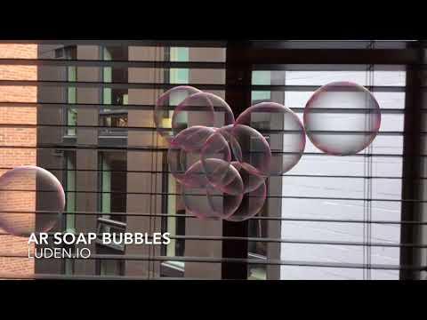 AR Soap Bubbles: ARkit for kids