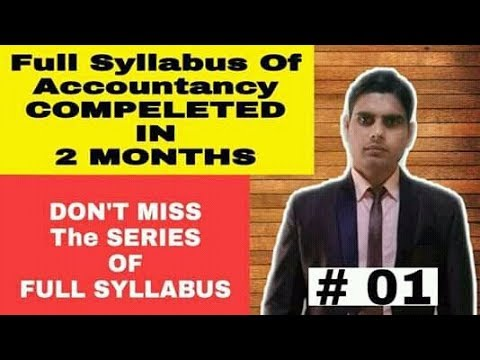 Full Syllabus of Accountancy in 2 Months ( D - Voice Enterta