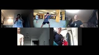 Boxing training on Zoom 2
