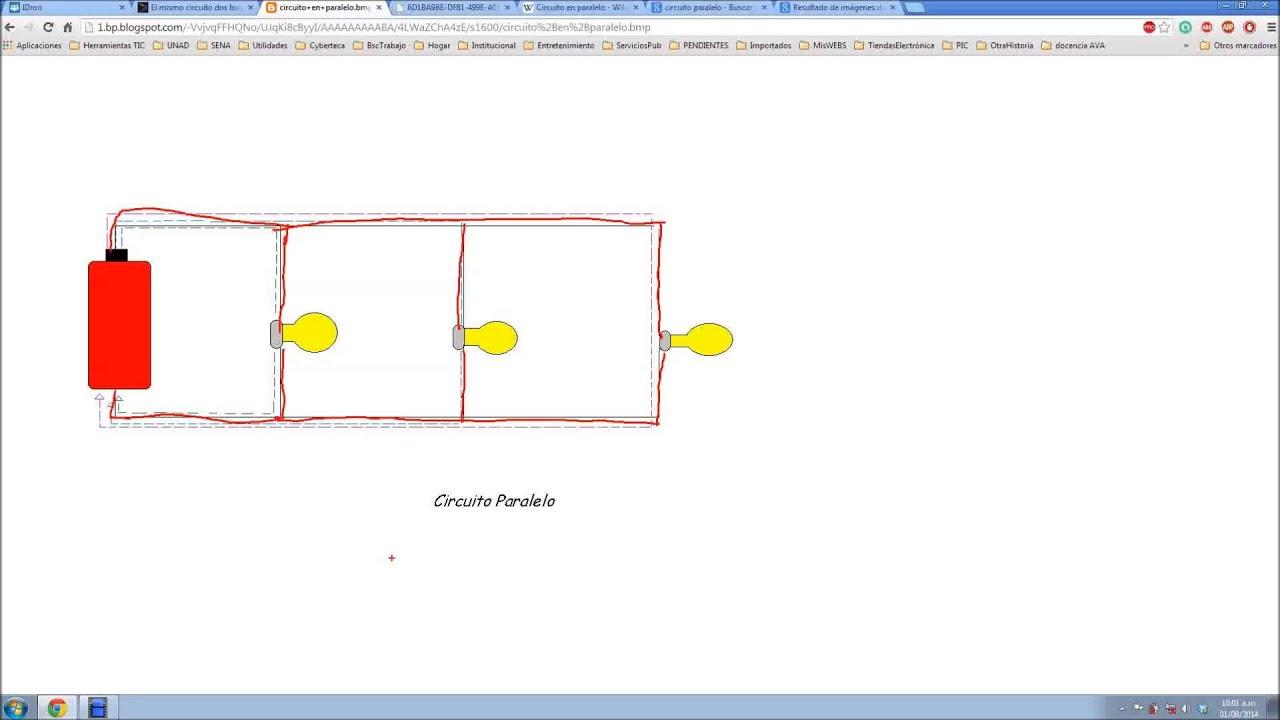 Circuito Not : Circuitos eléctricos en serie paralelo y mixtos youtube
