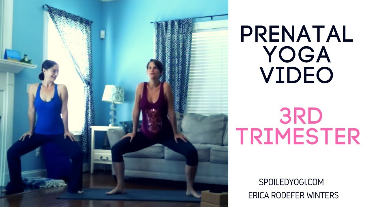 Prenatal Yoga Yoga For The Third Trimester 20 Minutes Youtube
