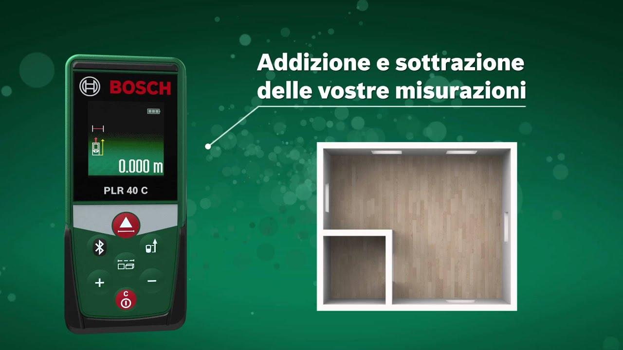 Laser Entfernungsmesser Bosch Plr 40 C : Distanziometro laser plr c bosch youtube