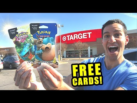*HOW TO GET FREE POKEMON CARDS AT TARGET!* Opening Packs From The Store!
