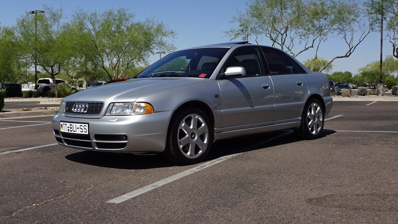 2000 Audi B5 S4 in Silver Paint & V6 Biturbo Engine Sound on My Car