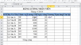 Cách tạo bảng tính và các phép tính cơ bản trong Excel