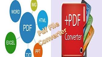 Pdf File Convert Use Unipdf Software Youtube
