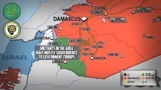 26 июня 2018. Военная обстановка в Сирии. Продвижение сирийской армии, удары Израиля по Дамаску.
