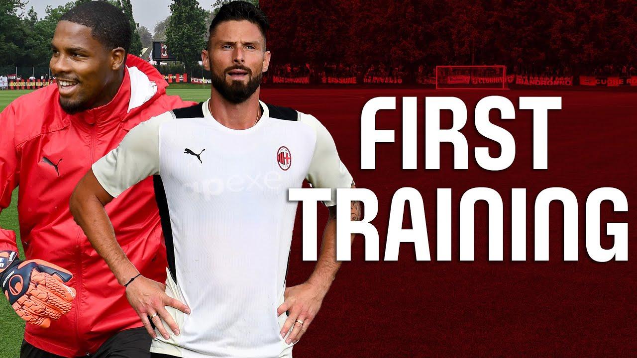 Giroud & Maignan First Training   Pre-season 2021-22