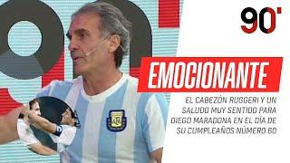 El emotivo saludo del Cabezón #Ruggeri para Diego #Maradona en el día de su cumpleaños
