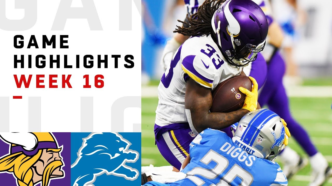 Vikings vs. Lions Week 16 Highlights | NFL 2018