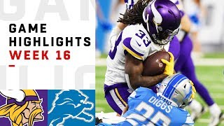 Vikings vs. Lions Week 16 Highlights