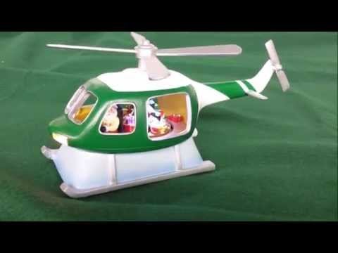 Musical Helicopter Christmas Decoration
