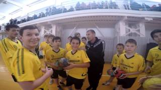"Master Class from handball club ""Sgau-Saratov""  in Novouzensk"