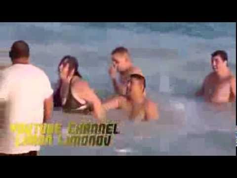 Пьяные на пляже - Видео приколы