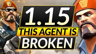 BEST AGENT of tнe NEW 1.15 Patch - UNBELIEVABLY BROKEN - Valorant Brimstone Guide