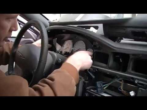 Chrysler Sebring Instrument Cluster Removal Procedure by