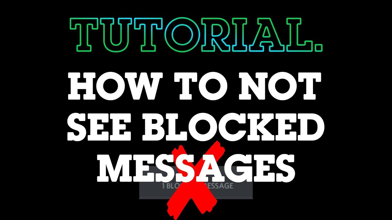 [ CHECK DESCRIPTION ] How to not see blocked message blocks on Discord