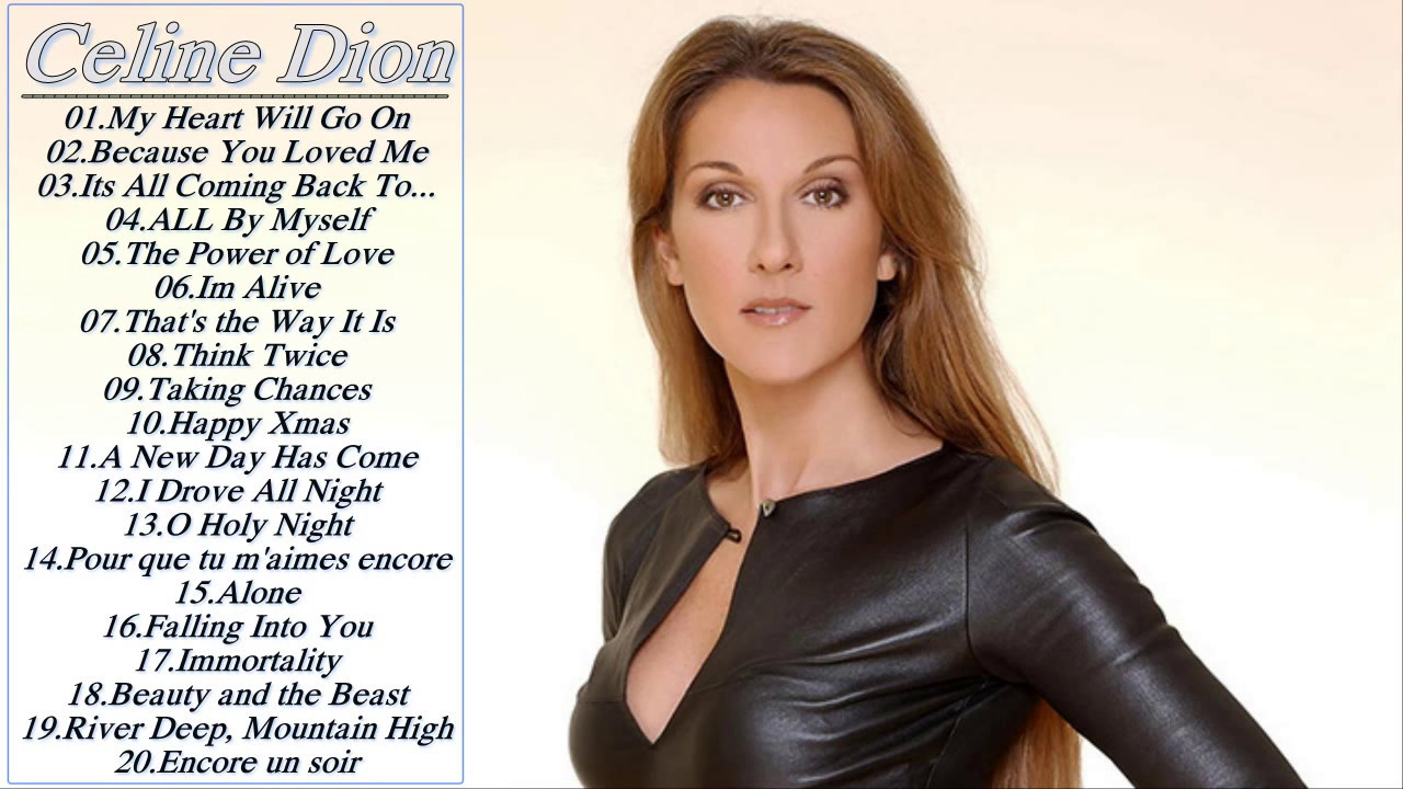 Best Songs Of Celine Dion Celine Dion Greatest Hits Collection Youtube