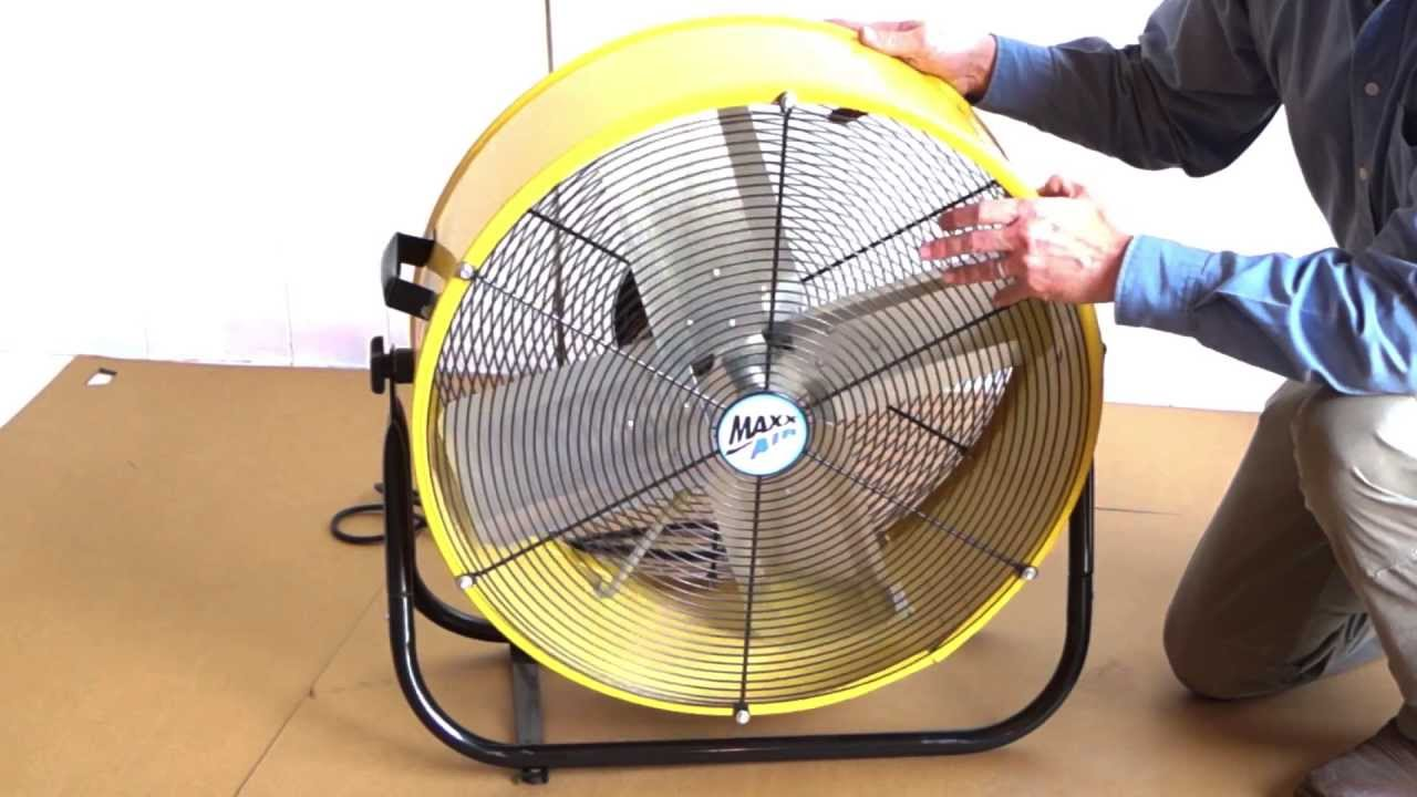 maxxair 24 inch tilt fan [ 1280 x 720 Pixel ]