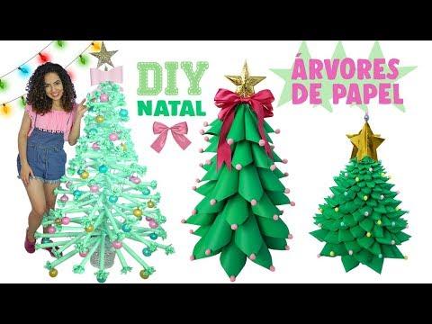 ESPECIAL NATAL #1: DIY ÁRVORES FOFAS DE PAPEL   Paula Stephânia